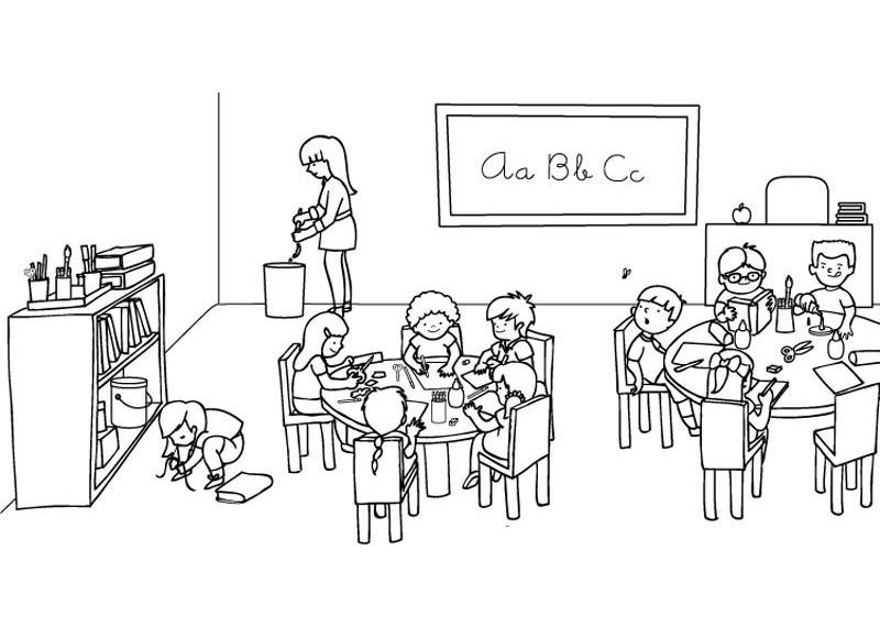 Association girouette g rone - Ninos en clase dibujo ...