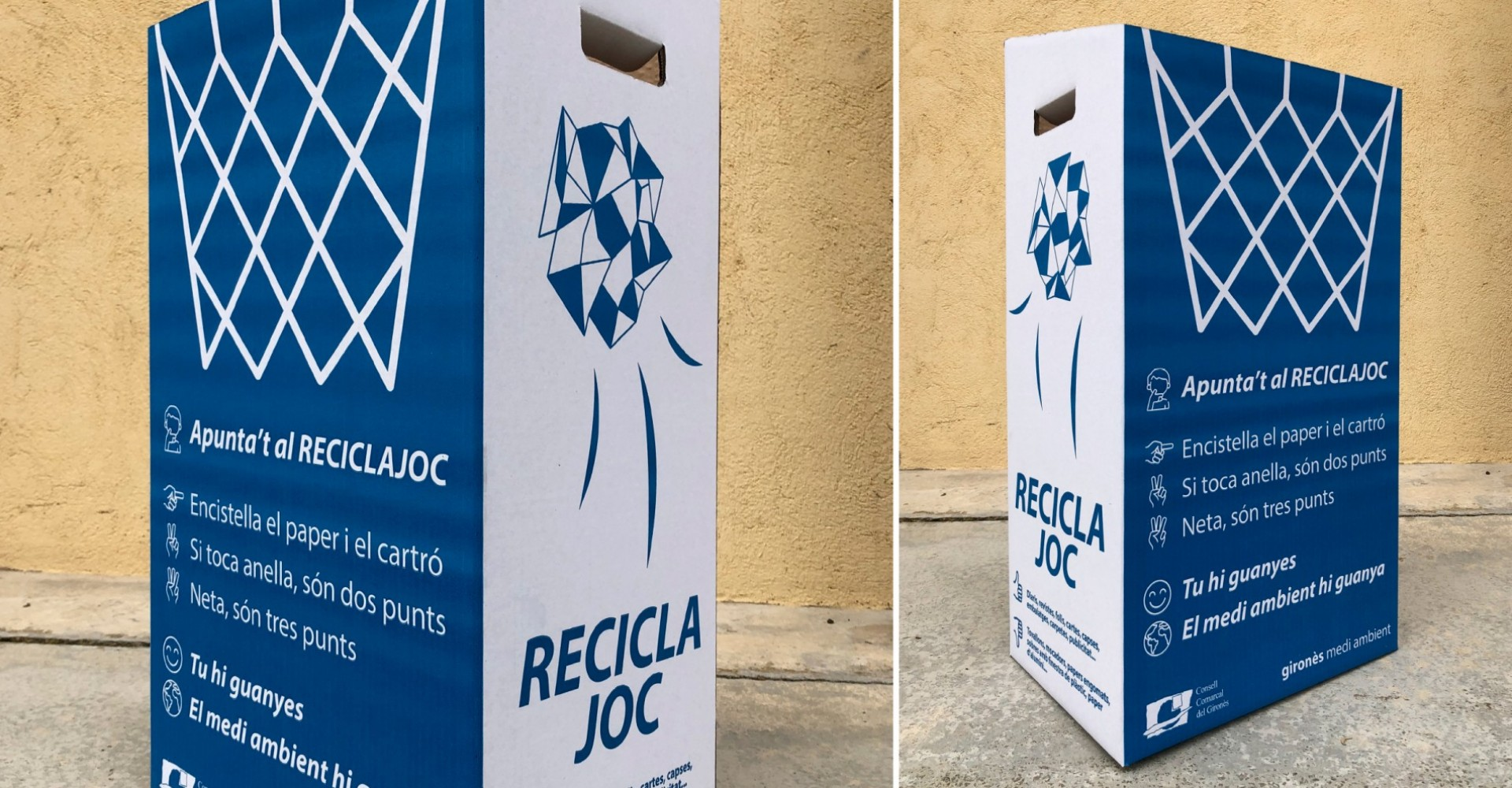 Paperera Reciclatge Escoles